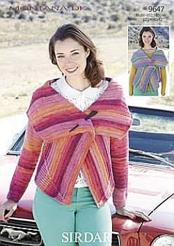 "Sirdar Knitting Pattern 5470  4 Ply Ladies  Lacy Jumper  Sweater Size 30/""//44/"""